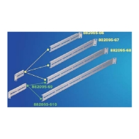BRACKETS FOR SLIDING RAIL CLM-882098-68