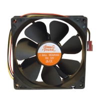 Вентилятор для корпуса 92х92х25мм, 3пин, два подшипника, 0.21A, 2400RPM, CF-12925MB, Green power