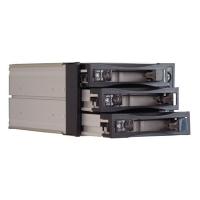 "Корзина SNT-2131SATA 2 x 5.25"" с салазками ""горячей"" замены для 3 х 3,5"" SATA2 HDD, черная"