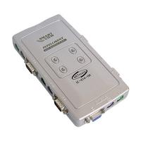Переключатель KVM IC IC-614-I KVM Switch 4 порта, пластиковый корпус, кабели в комплекте
