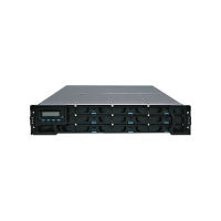 INFORTREND Eon S12F-R1420-M5 12-Bay 2U FC to SAS/SATA 512Mb cache/BBU/2 FC-4G PORT/ASIC266/REDUNDANT