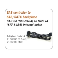 Кабель SAS ADAPTEC ACK-INT-SAS*4-TO-4SAS*1-0.5M ADAPTEC