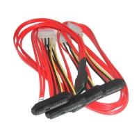 Кабель Mini SAS Cable, SFF-8087 to 4x SFF-8482, длина 0.5 метра, SAS-025, Negorack