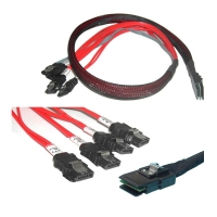 Кабель Mini SAS Cable, SFF-8087 - 4xSATA, длина 1 метр, SAS-028, Negorack
