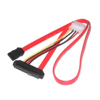 Кабель SAS to SATA, 29Pin SFF-8482 (Signal+Power) - SATA+Molex, 15см, SAS-031, Negorack