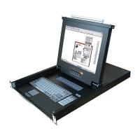 """Консоль 1U KLB-108, 17"""" ЖК, 8 портов KVM, Монитор, клавиатура, тачпад, OXCA"""