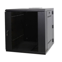"""Серверный шкаф 19"""" 12U DW6612 (600x500x635мм), настенный, 2 секции, стекл. дверь, черный, RackPro"""