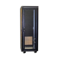 """Серверный шкаф 19"""" 47U CLM-2168-47B (600х800х2200) стекл. перед. дверь, охлажд. задн. дверь черный"""