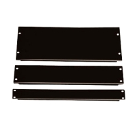 Фальш-панель, заглушка 1U в серверную стойку/шкаф, пластик, черная, BLPanel1U