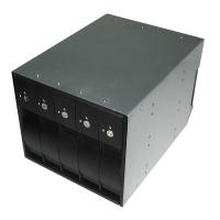 "Корзина SI-3358 3 x 5.25"" с салазками ""горячей"" замены для 5 х 3,5"" SAS/SATA2 HDD, черная"