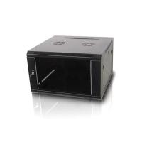 """Серверный шкаф 19"""" 12U WM6612 (600x600x635мм), настенный, 1 секция, стекл. дверь, черный, RackPro"""
