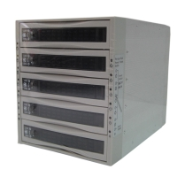 "Корзина SNT-3051SS 3 x 5.25"" с салазками ""горячей"" замены для 5 х 3,5"" SAS/SATA2 HDD, белая"