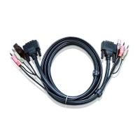 Кабель 2L-7D02U DVI-USB для KVM переключателя 1.8 метров, Aten