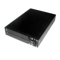 "Корзина 1 x 3.5"" с салазками ""горячей"" замены для 2х2.5 SATA HDD NR-HD9012, черная"