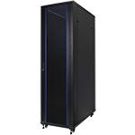 """Серверный шкаф 19"""" 42U RackPro EC6842B (600х800х2055мм), передняя стеклянная дверь, черный"""