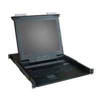 """Консоль 1U KLC-108, 19"""" ЖК, 8 портов KVM, Монитор, клавиатура, тачпад, OXCA"""