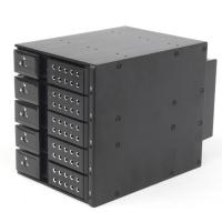 """Корзина NR-BP3500SS-BK 3x5,25"""" с функцией """"горячей замены"""" для 5х3.5"""" SAS/SATA2 HDD, металл, черная"""