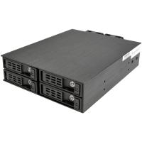 "Корзина NR-SS4212G 1 x 5.25"" с салазками ""горячей"" замены для 4 х 2,5"" SAS/SATA 12G HDD, черная"