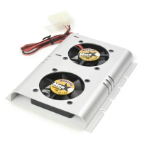 "Охлаждение жесткого диска 3.5"", два вентилятора 4500RPM, с креплением к HDD, алюминий, NR-SHDC-B"