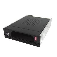 "Корзина SI-1190SS 1x5,25"" с функцией ""горячей замены"" для 1х3.5"" SAS/SATA HDD, металл, черная"