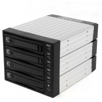 "Корзина SNT-3141SS 3 x 5.25"" с салазками ""горячей"" замены для 4 х 3,5"" SAS/SATA2 HDD, черная"