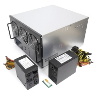 Корпус 6U NR-M66 1600Вт+500Вт (6xGPU или 8xGPU, ATX 12x9.6, 1x3.5int), 470mm, черный, NegoRack