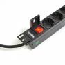 """Блок силовых розеток в стойку 19"""" NR-PDU8-30, 16А, кабель 3 метра, 8 розеток, высота 1U, Negorack"""
