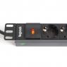 """Блок силовых розеток в стойку 19"""" NR-PDU8-18, 16А, кабель 1.8 метра, 8 розеток, высота 1U, Negorack"""
