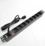"""Блок силовых розеток в стойку 19"""" NR-PDU8-30U, 16А, кабель 3м., подкл. к UPS, 8 розеток,1U, Negorack"""